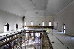 Två våningar restaurang byggs det för i gamla Baptistkyrkan.