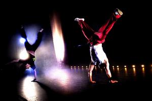 Dansant. Rami och Rolf dansade sig igenom länsfinalen i Open Jam i lördags.