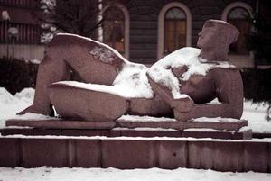 Gudinna under snö 1995.