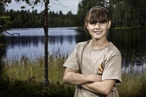 Sandra Guldbrandsson är 12 år och bor i Backe i Strömsunds kommun.