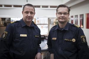 Sten Sundin, utredningschef, och Mats-Ove Edvinsson, tf chef för polisområde Jämtland.