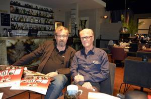 Tomas Melander och Lennart Bergström från föreningen Svenska Deckarfestivalen ser fram emot nya deckarupplevelser i Sundsvall.