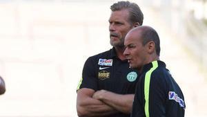 VSK-managern Johan Mjällby och tränaren Leif Berg.