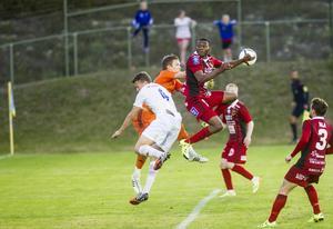 SFF-målvakt Simon Elgh gjorde en bra match, men var chanslös på Östersunds segermål i den 86:e minuten