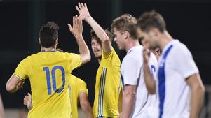 Mikael Ishak fixade straffen som Emil Salomonsson satte till 1-0 för Sverige.