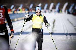 Seraina Boner kunde smila sig över mållinjen som segrare i Ski Classics 2014.