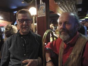 Tommy Dahlström, jamledare för eftermiddagens Blues Jam med Bobo Eriksson, som hjälper till med evenemangen på puben.