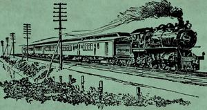Tåg är spelplats för lokalproducerad opera.   Illustration från föreställningsaffisch.