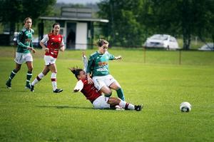 Holland Crooks, här i närkamp på mittfältet, stod för Krokoms 1–0-mål.