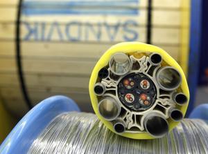Så här ser navelsträngsrören ut när de tvinnas ihop med elektronik och annan utrustning som behövs vid oljeutvinningen på havets botten.