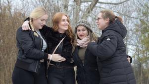 Klimatforskarna Evelina Egdahl, Sara Jergander, Eleni Kalaitsidou och Estera Babecka.