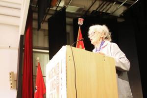 Rosa Taikon talade om främlingsfientlighet som ett hot mot demokratin.