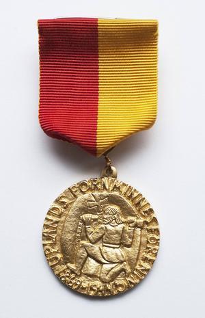 Medaljen är formgiven av Bror Hjort. Foto:OlleNorling/Upplandsmuseet