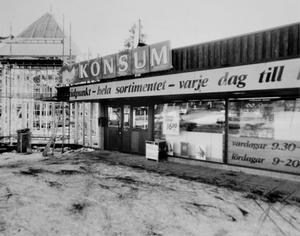 En gång fanns en Konsumbutik i området.