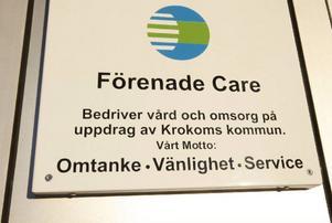 Den här skylten finns utanför Solbackas äldreboende i Föllinge