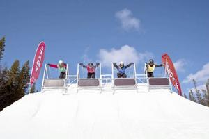 Starten på skicrossbanan i Lofsdalen.