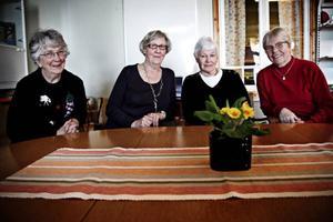 Barbro Andersson, Sonja Olsson, Inger Näs och Solweig Eliasson.