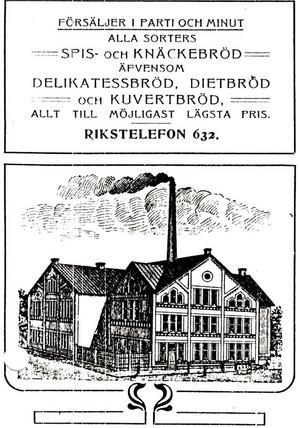 Illustration av ångbageriet från år 1905.