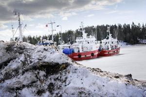 Snön ligger ännu på hamnplanen, men PÅ 16 och PÅ 34, Brottsjö och Polaris, ligger i startgroparna.