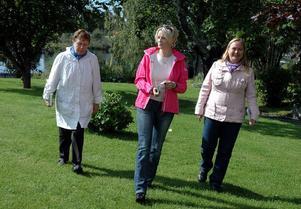 PÅ GÅNG. Stödekvinnorna Margareta Rudbo, Lena Åsberg och Anita Jacobson har i sommar tagit steget fullt ut och släppt var sin bok.