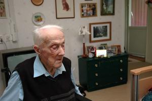HUNDRINGEN. Joel Hedin från Sandby fyller 100 år i dag.