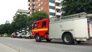 Räddningstjänst, polis och ambulans ryckte ut.