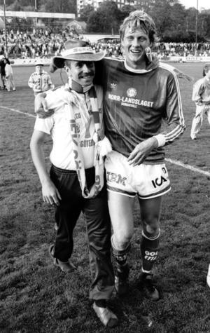 Håkan Sandberg efter en match mot IFK Göteborg (2-1) 1989. Bild: Svanthe Harström
