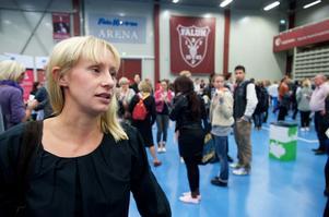 Linnéa Hassis, projektledare för Stanna i Dalarna, ska undersöka vad som kan få studenter att stanna kvar i Dalarna. Foto:Kjell Jansson