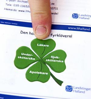 I den halländska fyrklövern är både läkare, sjuksköterska, apotekare och undersköterska lika viktiga. Foto: Mattias Nääs.