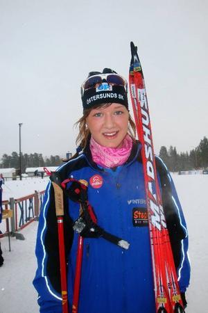 Johanna Meyer, ÖSK, vann D17-18 på den tuffa banan.