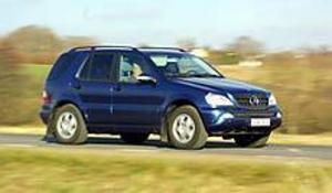 Bamse. Mercedes ML är en rejäl koloss runt 2,2 ton. Bilen känns dock inte klumpig att köra.