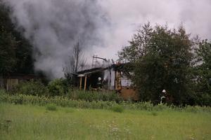 Villan var övertänd när räddningstjänsten kom dit.