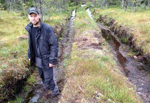 Daniel Palm, under en inspektion, fann detta övergrepp på naturen.