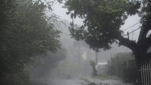 Så här såg det ut när orkanen Irma drog fram i Fajardo i Puerto Rico på onsdagen.