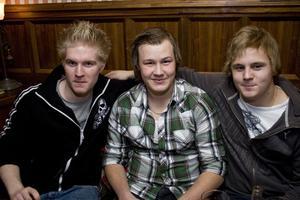 Pitchers Niklas, Johan och Jacob.