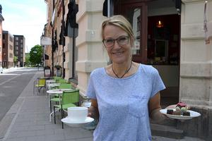 Den 1 juni hade vi premiär för vår nya uteservering, berättar Anne-Lie Stiernström som driver Sundsvall Chocolate House.