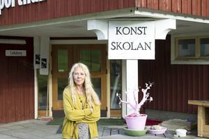 Arna Rydberg är ansvarig för utbildningen vid Åredalens konstskola.
