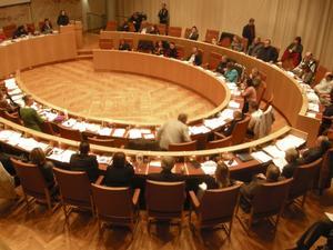 Fel forum. Sverigedemokraternas intåg har gjort att de övriga partierna vill undvika ovissa omröstningar i kommunfullmäktige.foto: VLT:s arkiv