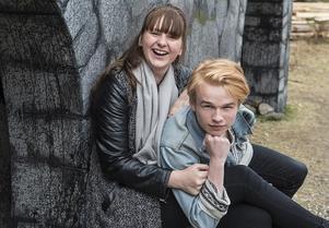 Sofia Göransson och Jonathan Norberg agerade Ronja och Birk i Kvartersteaterns