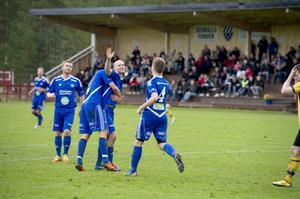 Där satt den – igen! Erik Wästman var dagens man med tre mål hemma på Rengsjö IP.