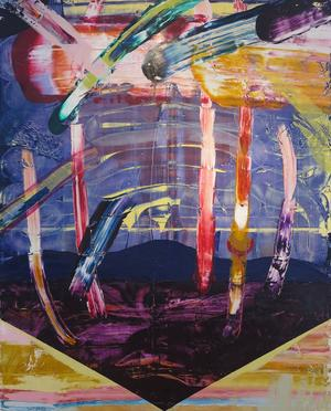 Apocalipstick. Målning av Susanna Serrander.