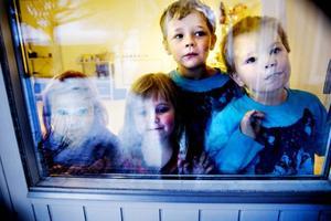 """I VÄNTAN PÅ JULTOMTEN. Stella Säll, Maja Olsson, Mikael Ryner och Mattias Örtoft längtar efter julafton. """"Det bästa med julen är tomten och julklapparna"""", säger Mattias."""