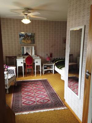 Det som nu är Molles rum såg tidigare ut så här.