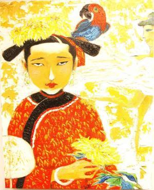 Två av de kinesiska kvinnor som Wen Ji gärna målar.