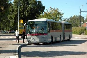 KRITIK. Gunilla Thomsson, ombudsman på Synskadades riksförbund, säger att de automatiska hållplatsutropen tidigare fungerade på buss 821, mellan Tierp och Uppsala. Men att så inte längre är fallet.