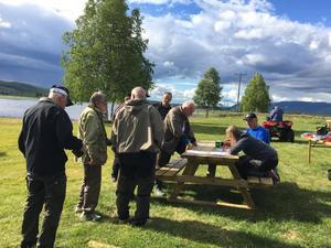 Ett 40-tal fiskare fanns med under metartävlingen i Vemhån