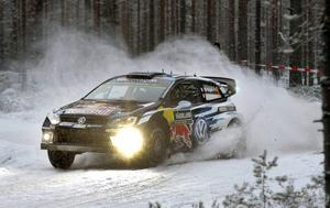 Sebastien Ogier tog sin tredje seger i det svenska VM-rallyt.