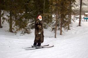 I Funäsdalen kan man få träffa jultomten i skidbacken.   Foto: Carin Selldén