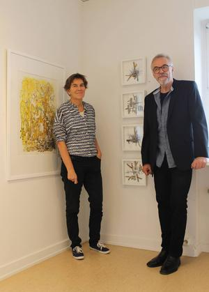Anna Erlandsson och Odd Larsson ställer ut på Härke Konstcentrum.