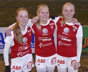 Emelie Lindmark, Vilde Bång-Öygard och Elin Nord gjorde målen mot Åbyggeby/Ockelbo